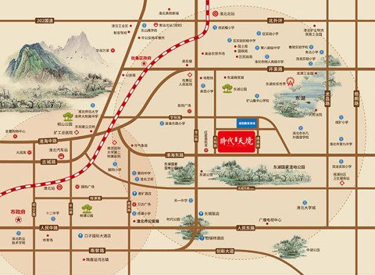 淮北时代天境区位图